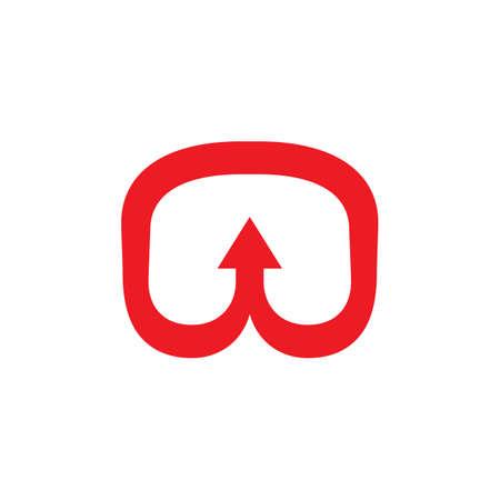 abstract curves line arrow simple logo vector