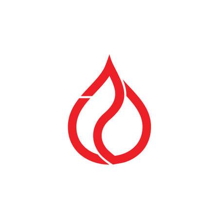 simple geometric flame logo vector Stock Illustratie