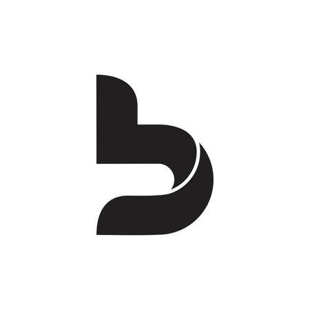 letter b curves geometric 3d logo Çizim
