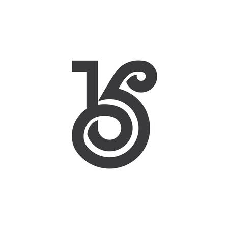 letter bk overlapping curves line logo vector