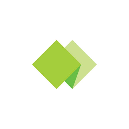 green paper 3d logo vector Çizim