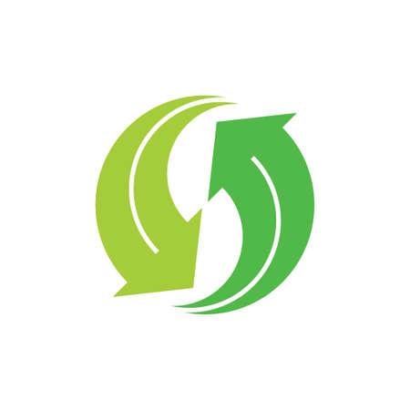 rotate geometric arrow circle motion logo vector Çizim