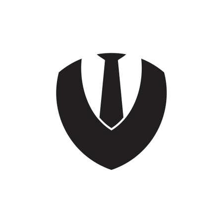 businessman emblem necktie geometric simple vector
