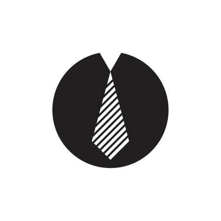 letter o neck tie businessman symbol logo vector