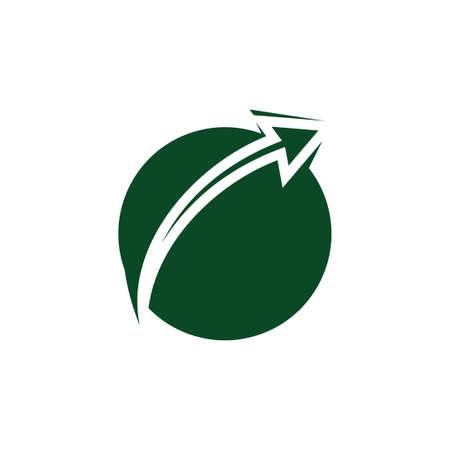 simple geometric arrow up earth logo vector 向量圖像