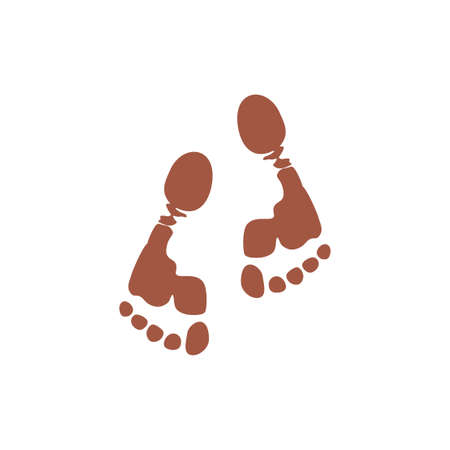 foot print in mud natural life symbol logo vector Stock Vector - 134850176
