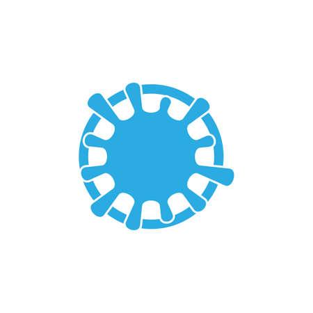 water splash swirl symbol logo vector
