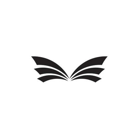 stripes geometric book wings logo vector
