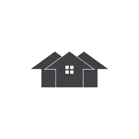 home silhouette geometric home logo vector