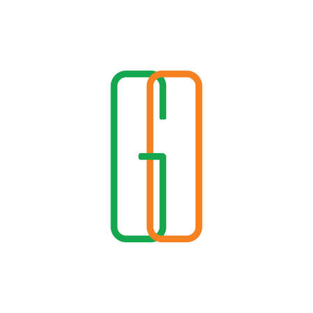 letters go linked lines logo vector