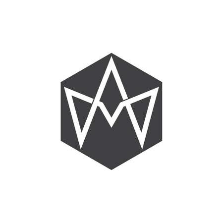 letter am infinity design overlap logo vector