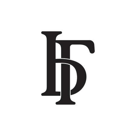 letter br linked simple logo vector