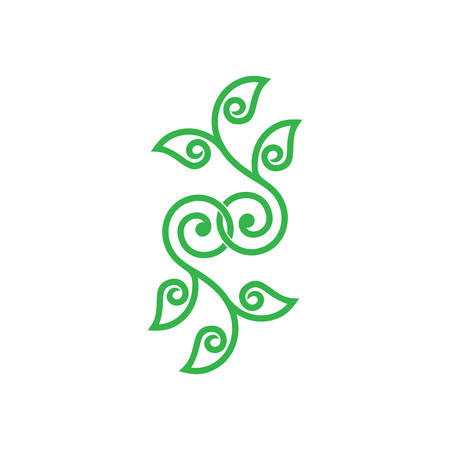 linked spiral tree curves design symbol vector