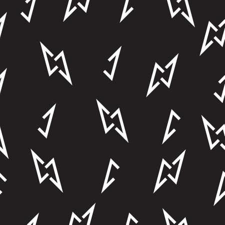 letter n thunder shape seamless background vector Ilustrace