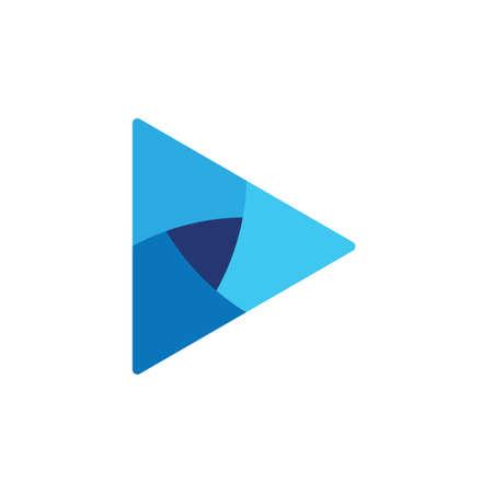 Dreieck Papierfalte 3D-Logo-Vektor