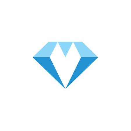 diamond blue simple geometric logo vector Vectores