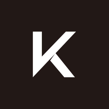 letter vk simple geometric flat logo vector