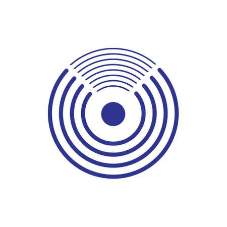 letter u stripes rotate logo vector
