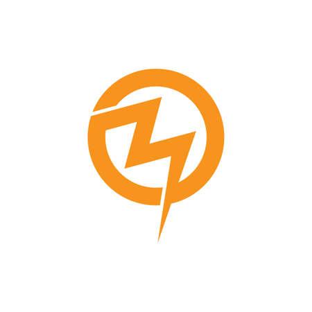 abstract letter mo thunder shape logo vector