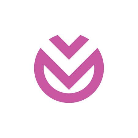 vm circle geometric abstract logo vector