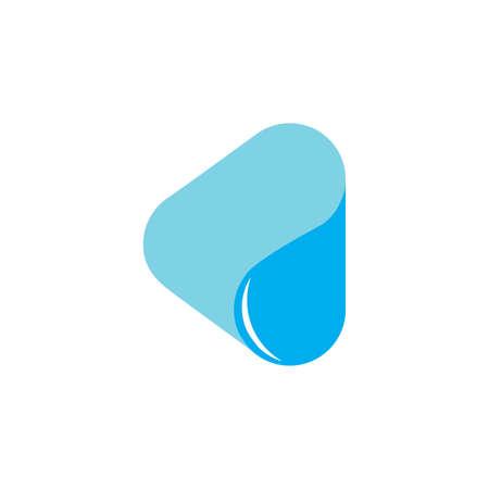 triangle water drop symbol curves design logo vector