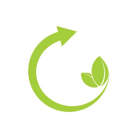 letter g arrow green leaf logo vector