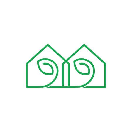 home leaf natural resident symbol vector