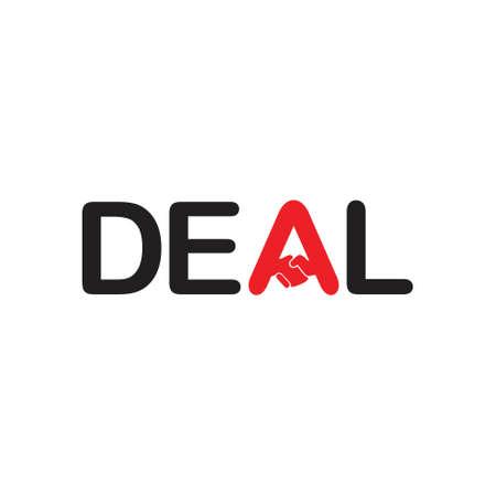 deal hand shake symbol design decor vector