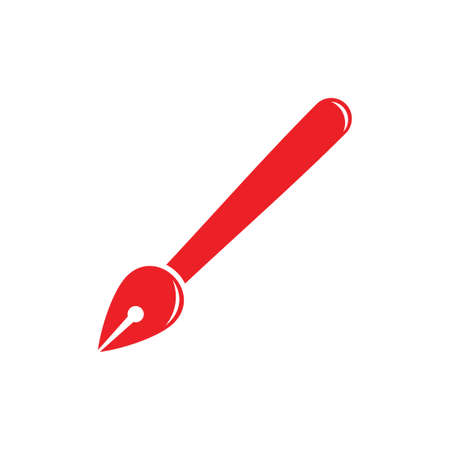 pen writer classic decoration vector