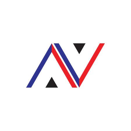 letter av n triangle arrow logo vector Logo