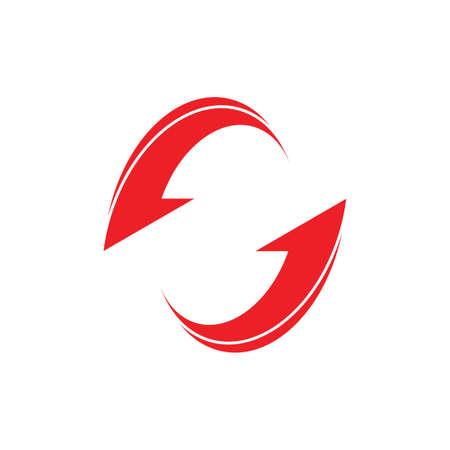 circle geometric arrow rotation clear design vector