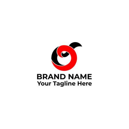 letter o 3d ribbon design symbol logo vector