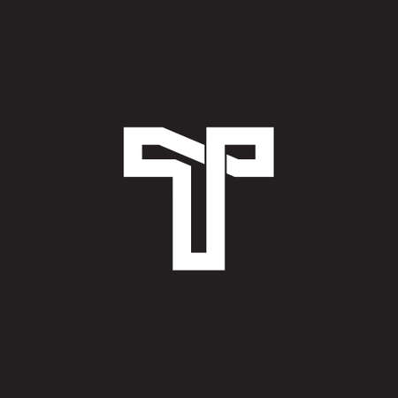 leter t infinity line overlap logo vector Logó