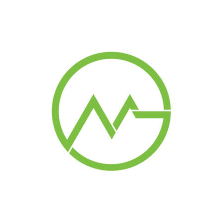 letter gm geometric circle logo vector