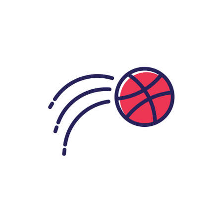 basketball motion simple line logo vector Illusztráció