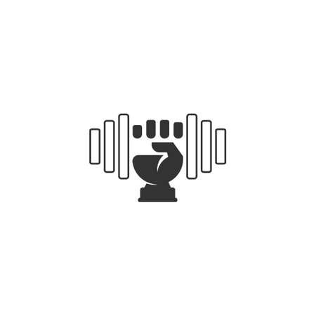 symbol logo vector of dumbbell barbell line design Ilustração