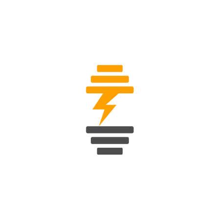 symbol logo vector dumbbell power training simple geometric design Ilustração