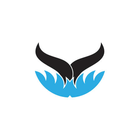 fish tail whale symbol vector