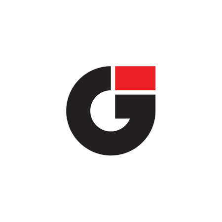 letter g arrow up geometric logo vector