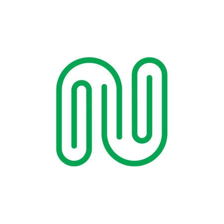 letter n paper clip design logo vector