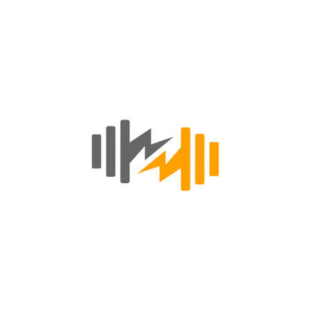 symbol logo vector of thunder gym simple geometric design Ilustração