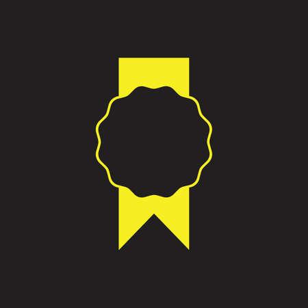 quality ribbon sticker symbol vector Ilustracja