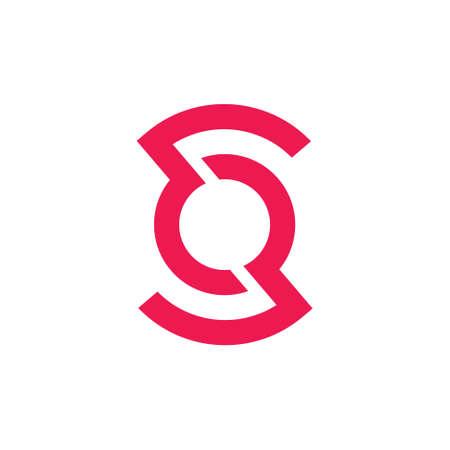 letter os circle geometric logo