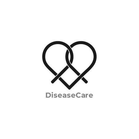 symbol vector of love ribbon disease care medical concept Ilustrace