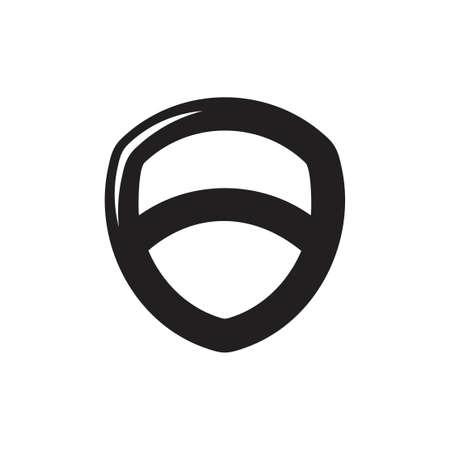 emblem shield shine symbol vector