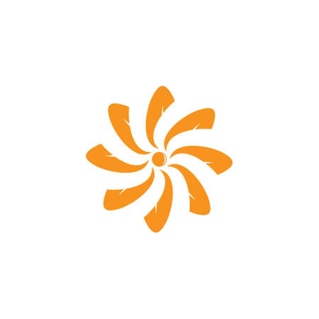 symbol vector of swirl sun japan geometric motion design