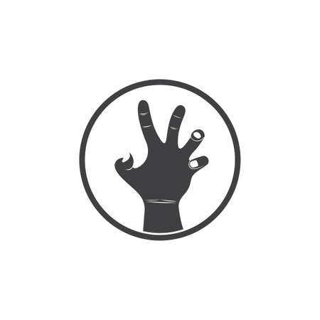 abstract grunge violence scary hand symbol decoration vector Foto de archivo - 138512768