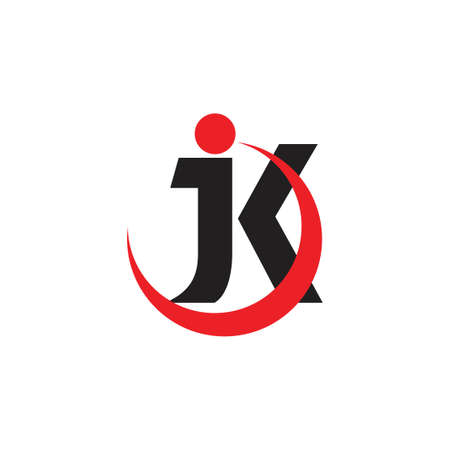 letter jk motion circle object logo vector Foto de archivo - 138512767
