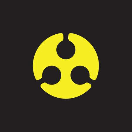 dots circle geometric simple logo vector Foto de archivo - 138513316
