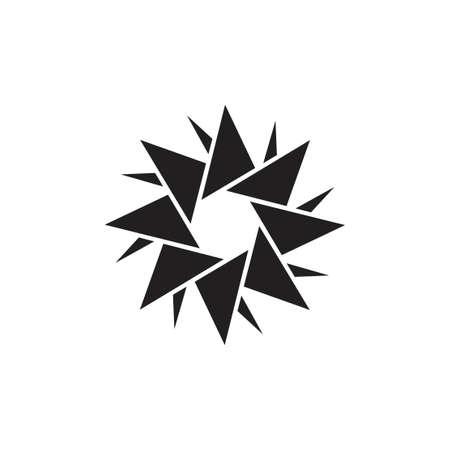 origami swirl geometric logo vector Foto de archivo - 138513498
